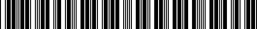 Barcode for PT9083400W02